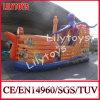 Lily Juguetes caliente Venta inflable barco pirata Combo / pirata de diapositivas