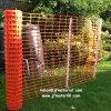 オレンジプラスチック安全警戒さくの塀