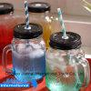 Glasglas mit Griff und Stroh