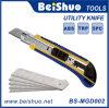 couteau de service en aluminium de 18mm avec l'outil manuel des lames 5PCS