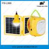 1W 전구와 이동 전화 충전기를 가진 2W 태양 재충전용 손전등