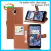 Cajas de cuero del teléfono de la PU de la carpeta del tirón para una más 1/2/3