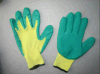 10g Ruwe de Voering van de polyester beëindigt Groene Latex Met een laag bedekte Handschoen
