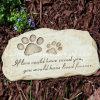 Pedra de piso do jardim da resina da devoção do animal de estimação do jardim