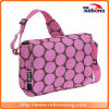 saco de ombro de seda Allover manchado cor-de-rosa de Creen da forma com uma cinta de ombro ajustável