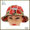 길쌈된 레이블을%s 가진 물통 모자 모자를 인쇄하는 주문 형식 수박