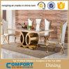 Tabela de jantar de mármore superior moderna com gabinete de madeira (A8054)