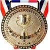 Trofeo su ordinazione di vendita caldo della moneta dei medaglioni del metallo della medaglia di oro su ordinazione dell'incisione