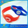 Bracelets personnalisés colorés de silicium de modèle pour l'organisation volontaire (XF-WB05)