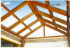 Sunroom de madera de aluminio del vidrio Tempered del marco de la azotea de cristal del edificio del chalet