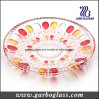 Glass decorativo Fruit Plate con Color
