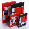 Caderno da agenda da tampa do couro do plutônio da impressão do projeto A6/A5 da qualidade com fechamento elástico da cinta