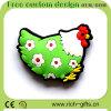 Recuerdos turísticos de Customlized del diseño de la promoción de los regalos del PVC del refrigerador del gallo libre del imán (RC-R20)