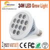 24W LED crecen la luz completa ligera de la lámpara del espectro para la lechuga