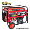 Benzine Engine 15 PK 6.5kv Gasoline Generator 6.5kw met Key Start Handle Wheel