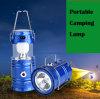 Lampada di campeggio autoalimentata solare portatile del LED per accamparsi