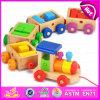 OEM de Welkome het Leren van de Baby Vroege Trein van het Stuk speelgoed van het Speelgoed Houten, de Hoge Trein In het groot W05c024 van het Speelgoed van Kinderen Quanlity Houten