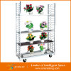 Storageのための庭Steel Shelf Flower Cart Racks