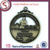 Изготовленный на заказ медаль Matt квадрата металла покрынное золотом корпоративное