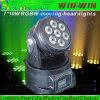 mini LED indicatore luminoso capo mobile del punto della lavata del fascio di 7X12W 4in1