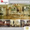 Mobilia di legno antica intagliata europea della sala da pranzo di legno solido di stile (DZ10)