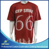 De douane ontwierp de Volledige T-shirts van de Koker van de Sporten van het Team van de Sublimatie Korte