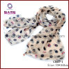 Sheer Chiffon Pendant Scarf with Charms (CR08-1)