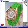 Relojes encantadores del caucho del deporte del reloj de señora Diamond Cheapest Ladies del reloj del silicón de la correa del color del caramelo Yxl-165