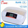 O Ce automático da incubadora dos ovos da galinha 32 de Hhd passou Yz-32A