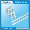 Staineless Stahlstrichleiter-einzelner Widerhaken-Verschluss-Kabelbinder