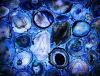 Голубая плитка камня агата для нутряного украшения