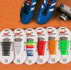 Elástico ningunos cordones de zapato fáciles del silicón del lazo de los cordones del lazo para los zapatos corrientes