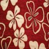 Red Chenille Woven Fabric in Modern Design (FTH31129)