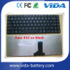Стандартная клавиатура компьтер-книжки клавиатуры для черноты Asus A42 K42