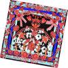 Sciarpa della signora Fashion Printed Square Silk (D12-7)