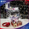 Caixa de indicador acrílica do organizador da composição do tamanho 2016 grande para produtos cosméticos