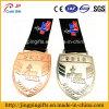 Die 2016 Zubehör-kundenspezifische Andenken 2D und das Metall des Firmenzeichen-3D Sports Medaillen-Stich-Medaille mit buntem Farbband
