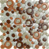 Design de fantaisie Glass Mosaic avec Core Round Shape (T 1820)
