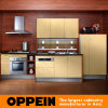Armadi da cucina laminati di legno di memoria del campo di mais di Oppein (OP10-X079)
