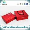 Sac de empaquetage plié rouge UV et de laminage d'impression de papier cosmétique de cadeau avec la corde