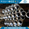 Tubos de acero con rosca de acero helicoidal HDG con zócalo