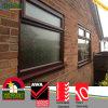 Janela de madeira da cor do baixo frame resistente ao calor de vidro do PVC de E