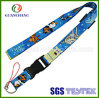 Sale를 위한 Phone Holder를 가진 주문 Cheap Polyester Screen Printed Promotion Safety Harness Phone Case Neck Lanyard
