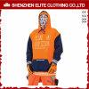 Gli uomini di colore arancioni alla moda organici all'ingrosso personalizzano le magliette felpate di Hoodie