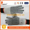 O algodão de Ddsafety 2017 ou o PVC natural do preto do Knit da corda do poliéster pontilham ambos os lados