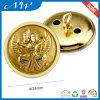 Кнопка золота хвостовика металла с поднятым логосом