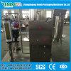 Engarrafamento da cerveja carbonatado enxaguando a máquina e o equipamento tampando de enchimento