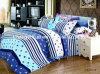50/50tc polivinílico/el lecho del algodón fijó para la materia textil moderna clásica del hogar de la pluma 4-Piece