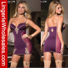 Ropa interior de señora Purple Sleepwear Dress Sexy