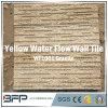Telha da parede de pedra do granito do material de construção e revestimento amarelos da parede